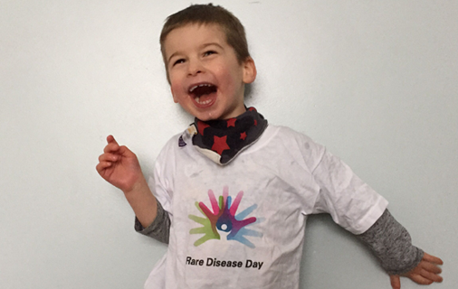 Boy with Rare Disease Day T-Shirt